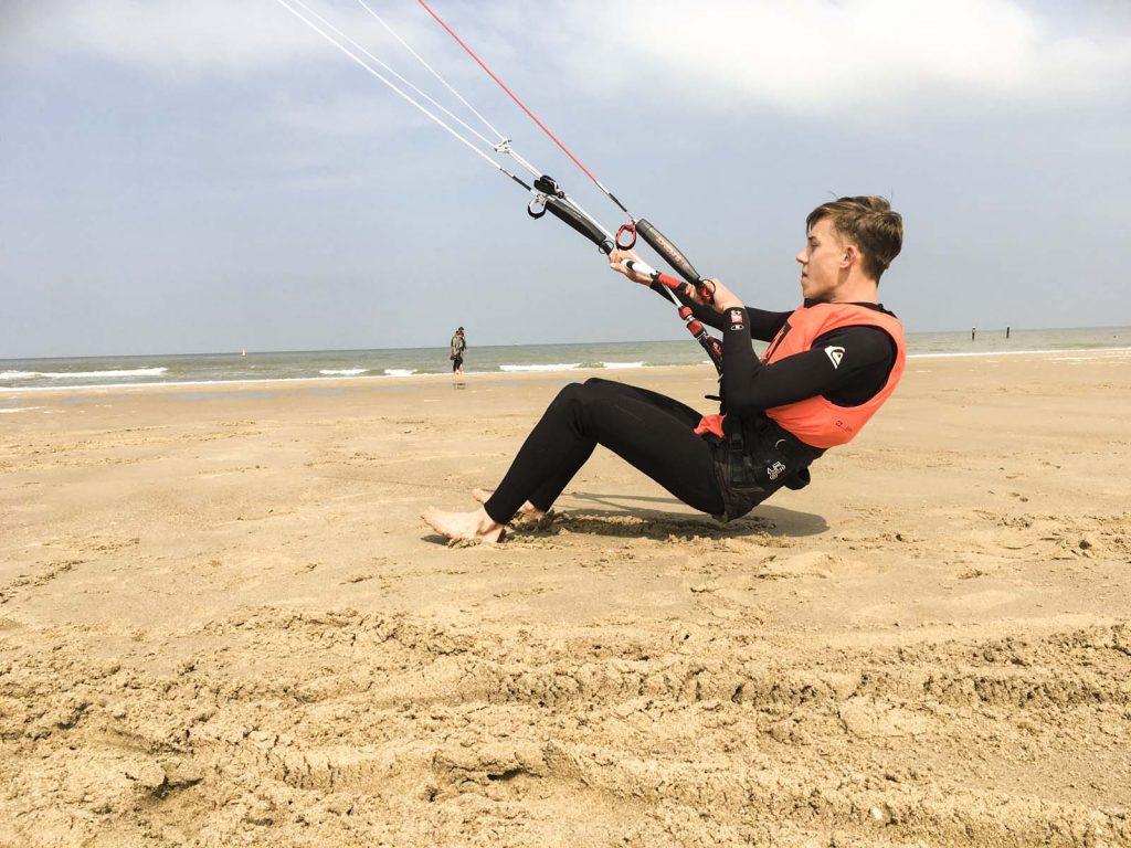 boy holding kite