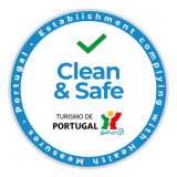 The Turismo de Portugal stamp of approval to distinguish tourist activities which are compliant with hygiene and cleaning requirements for the prevention and control of COVID-19 and other possible infections.
